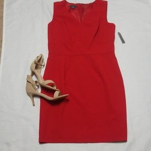 Covington Red Structured Dress